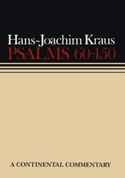 Cover of: Psalms 60-150 (Continental Commentaries) | Hans, Joachim Kraus