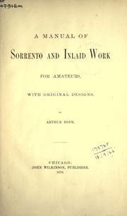 A manual of sorrento and inlaid work for amateurs by Arthur Hope