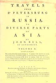 Cover of: Travels from St. Petersburg, in Russia, to diverse parts of Asia