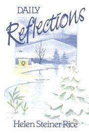 Cover of: Daily reflections
