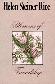 Cover of: Blossoms of friendship