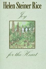 Cover of: Joy for the heart