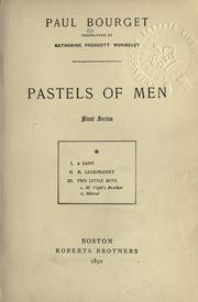 Cover of: Pastels of men: 1st series.  [Tr. by Katharine Prescott Wormeley]