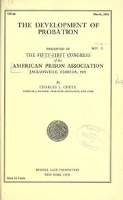 Cover of: The development of probation