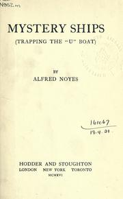 "Cover of: Mystery ships: (trapping the ""U"" boat)"