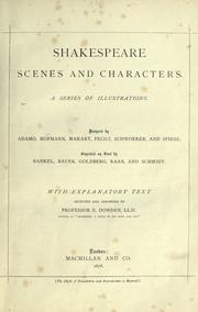 Cover of: Shakespeare scenes and characters