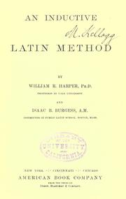 Cover of: An inductive Latin method