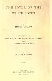 The idyll of the white lotus by Mabel Collins