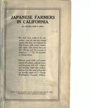 Cover of: Japanese farmers in California by John P. Irish