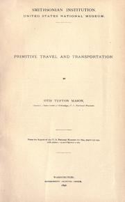 Cover of: Primitive travel and transportation