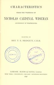 Cover of: Characteristics from the writings of Nicholas Cardinal Wiseman