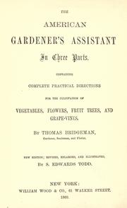 Cover of: The American gardener's assistant