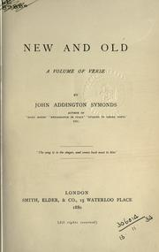 Cover of: New and old