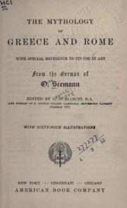 Cover of: The mythology of Greece and Rome by Otto Seemann