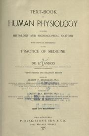 Cover of: Text-book of human physiology, including histology and microscopical anatomy