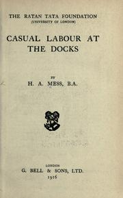 Cover of: Casual labour at the docks