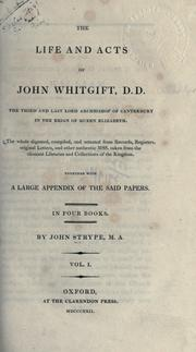 Cover of: The life and acts of John Whitgift
