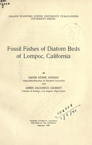 Cover of: Fossil fishes of diatom beds of Lompoc, California