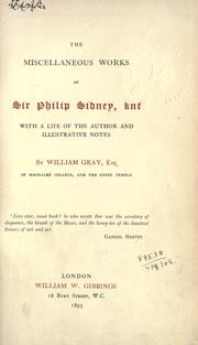Cover of: Miscellaneous works, with a life of the author and illustrative notes by William Gray