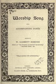 Cover of: Worship song ; with accompanying tunes