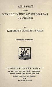 An essay on the development of Christian doctrine by John Henry Newman