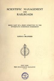 Cover of: Scientific management and railroads