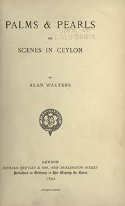 Cover of: Palms and Pearls: or Scenes in Ceylon