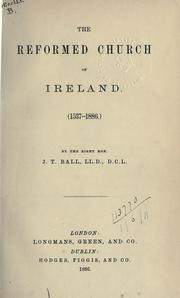 Cover of: The Reformed Church of Ireland, (1537-1886)