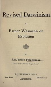 Cover of: Revised Darwinism, or, Father Wasmann on evolution