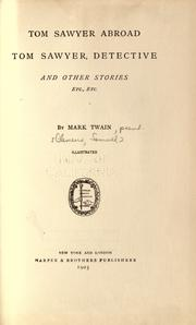 Cover of: Tom Sawyer abroad by Mark Twain
