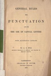 Cover of: General rules for punctuation and for the use of capital letters, with illustrative extracts