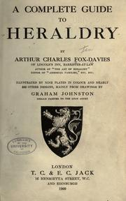 Cover of: A complete guide to heraldry by Arthur Charles Fox-Davies