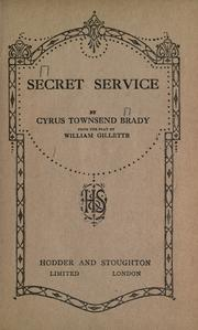 Cover of: Secret service by