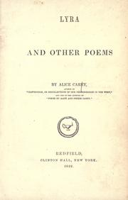 Cover of: Lyra and other poems