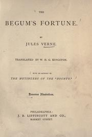 Cover of: The Begum's fortune