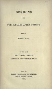 Cover of: Sermons for the Sundays after Trinity