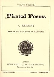 Cover of: Pirated poems