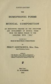 The homophonic forms of musical composition by Percy Goetschius