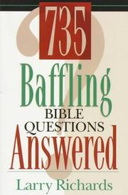 Cover of: 735 baffling Bible questions answered