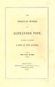 Cover of: The poetical works of Alexander Pope by Alexander Pope