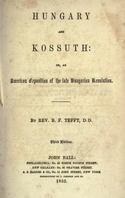 Cover of: Hungary and Kossuth