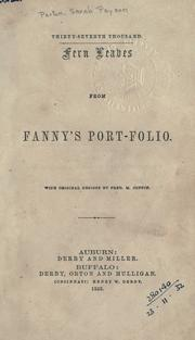 Cover of: Fern leaves from Fanny's port-folio