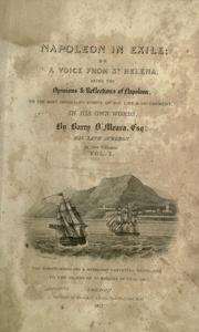 Cover of: Napoleon in exile, or, A voice from St. Helena