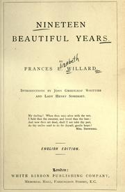 Cover of: Nineteen beautiful years
