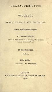 Cover of: Characteristics of women by Mrs. Anna Jameson