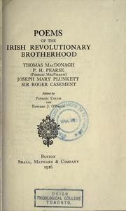 Cover of: Poems of the Irish revolutionary brotherhood