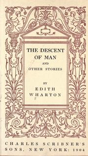 Cover of: The descent of man, and other stories | Edith Wharton