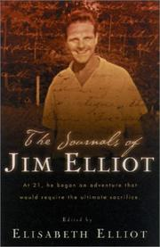 Cover of: The journals of Jim Elliot