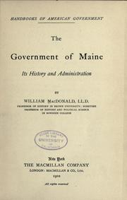 Cover of: The government of Maine