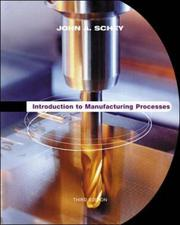 Cover of: Introduction to Manufacturing Processes (McGraw-Hill Series in Mechanical Engineering & Materials Science)